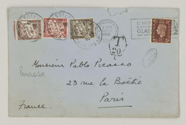 Roland Penrose's letter to Pablo Picasso, dated 30 September 1938