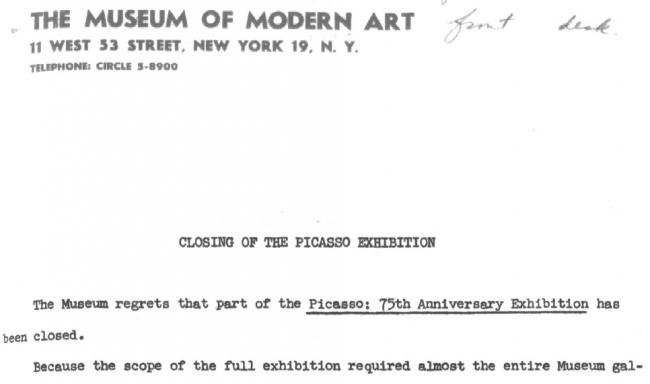 Closing of the Picasso exhibition