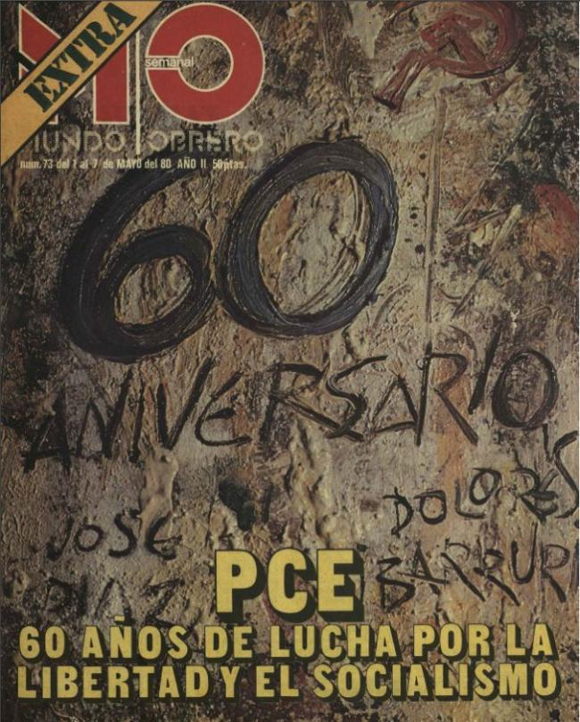 60th Anniversary of PCE (Communist Party of Spain)