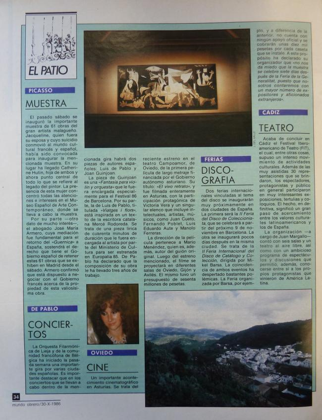 Review of the Picasso exhibition at the Museo de Arte Contemporáneo