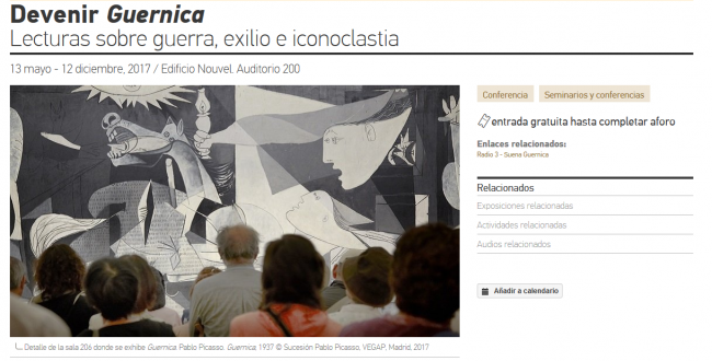 Becoming Guernica. Readings on War, Exile and Iconoclasm