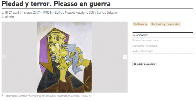 Pity and Terror. Picasso at War