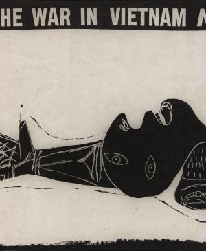 Rudolf Baranik, <em>Stop the war in Vietnam now!</em> [¡Detened la guerra en Vietnam ahora!, 1967]