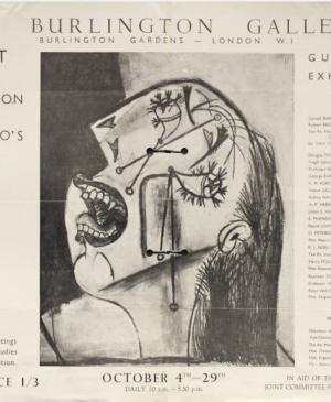 Cartel de Picasso's Guernica, New Burlington Galleries (3)