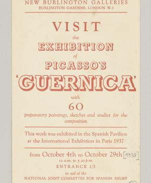 Invitación para Picasso's Guernica, New Burlington Galleries
