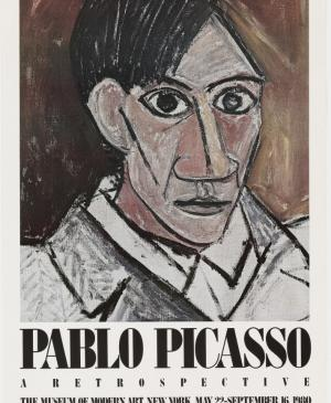 Poster of the exhibition Pablo Picasso: a Retrospective