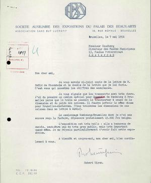 Robert Giron's letter to Willem Sandberg, dated 7 May 1956