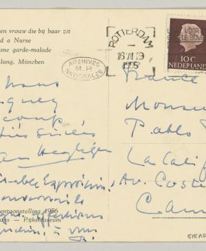 Daniel-Henry Kahnweiler's postcard to Picasso