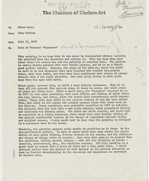 Jean Volkmer's letter to Bates Lowry, dated 17 July 1968