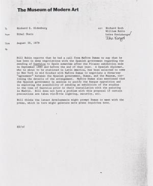 A letter from Ethen Shein to Richard E. Oldenburg
