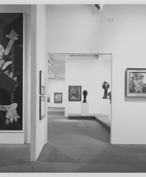 View of the exhibition Pablo Picasso: A Retrospective  at the Museum of Modern Art, New York