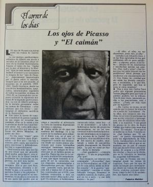 "The eyes of Picasso and ""El Caimán"""