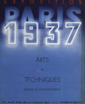 Offical magazine of the International Exhibition of Arts and Techniques for Modern Life