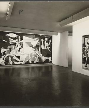 Guernica in the exhibition Picasso Between the Wars, 1919-1939 at New York's  Museum of Modern Art, New York