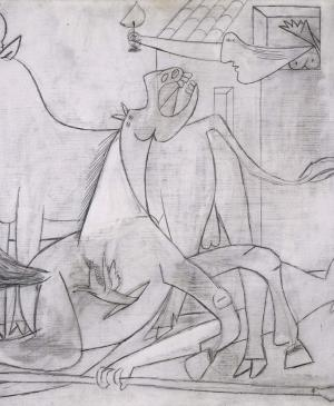 Composition Study [IV]. Sketch for Guernica