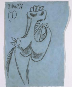 Study for the Horse Head (I). Sketch for  Guernica