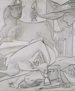 Composition Study [V]. Sketch for Guernica