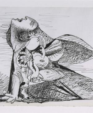Mother with Dead Child [I]. Sketch for Guernica
