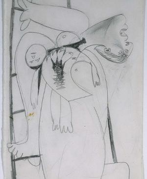 Mother with Dead Child on Ladder [I]. Sketch for Guernica