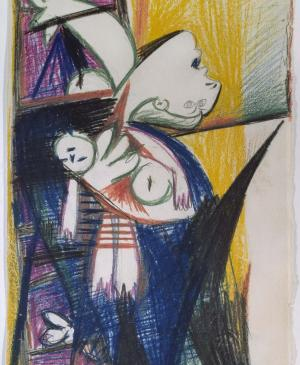 Mother with Dead Child on Ladder [II]. Sketch for Guernica