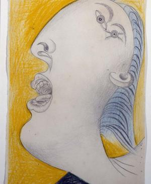 Woman's Head [I]. Sketch for Guernica