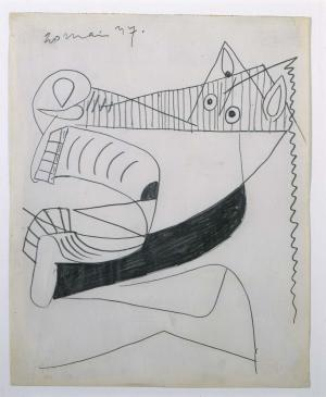 Horse Head [I]. Sketch for Guernica