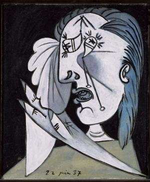 Weeping Woman's Head with Handkerchief [I]. Postscript of Guernica