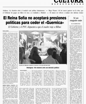 The Reina Sofía will not bow to political pressure to hand over Guernica