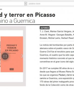 Pity and Terror. Picasso's Path to Guernica
