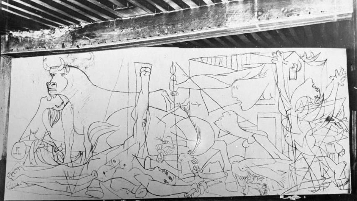 Reportaje de Dora Maar sobre la evolución de Guernica.