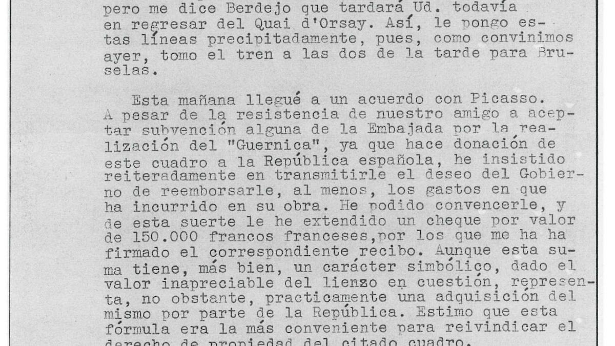 Max Aub's letter to Luis Araquistáin