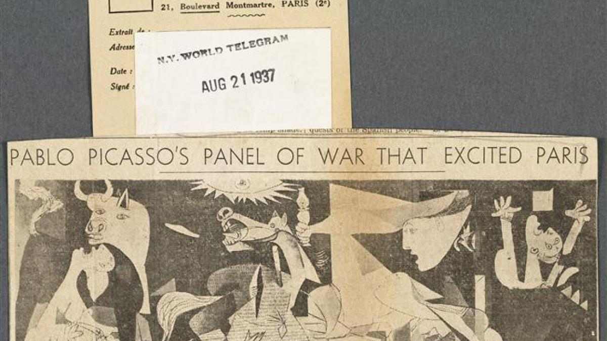 El cuadro de Pablo Picasso sobre la guerra que emocionó a París