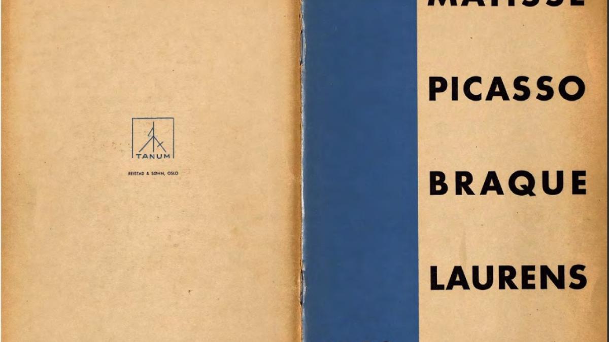 Catálogo de la exposición Henri Matisse, Picasso, G. Braque, Laurens  en el Kunstnernes Hus de Oslo