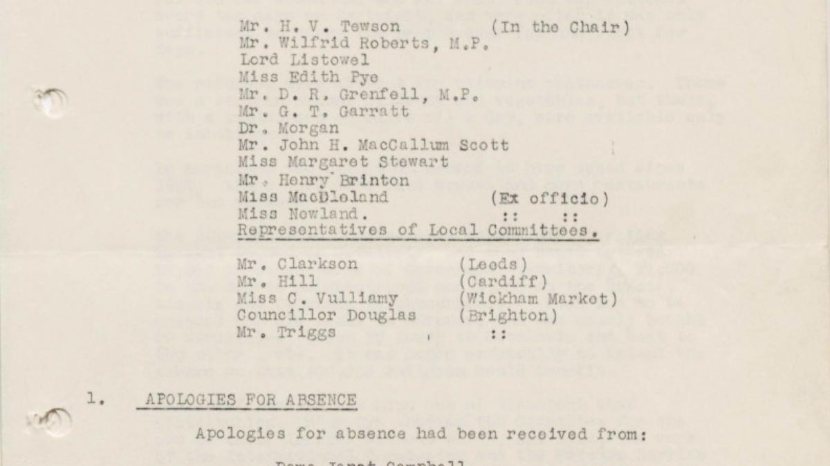 Minutes from a National Joint Committee For Spanish Relief meeting, dated 26 July 1938
