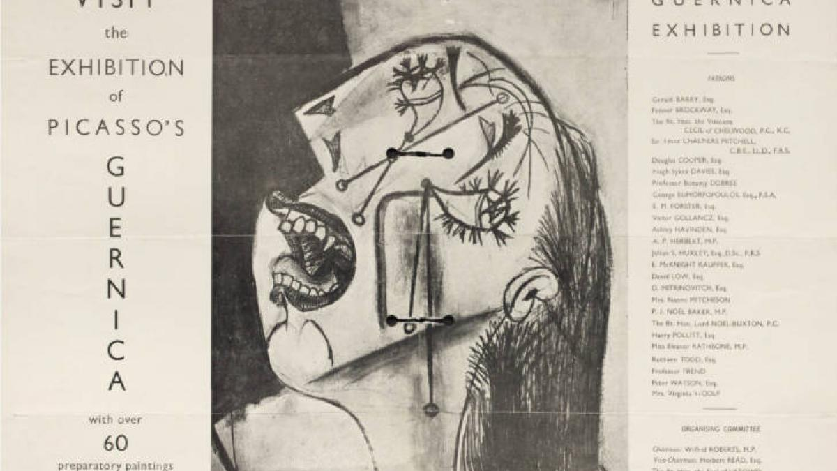 Poster of Picasso's Guernica, New Burlington Galleries (3)