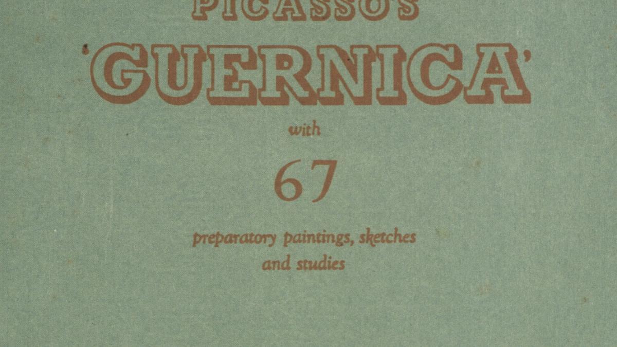 Catálogo de la exposición Picasso's Guernica en las New Burlington Galleries