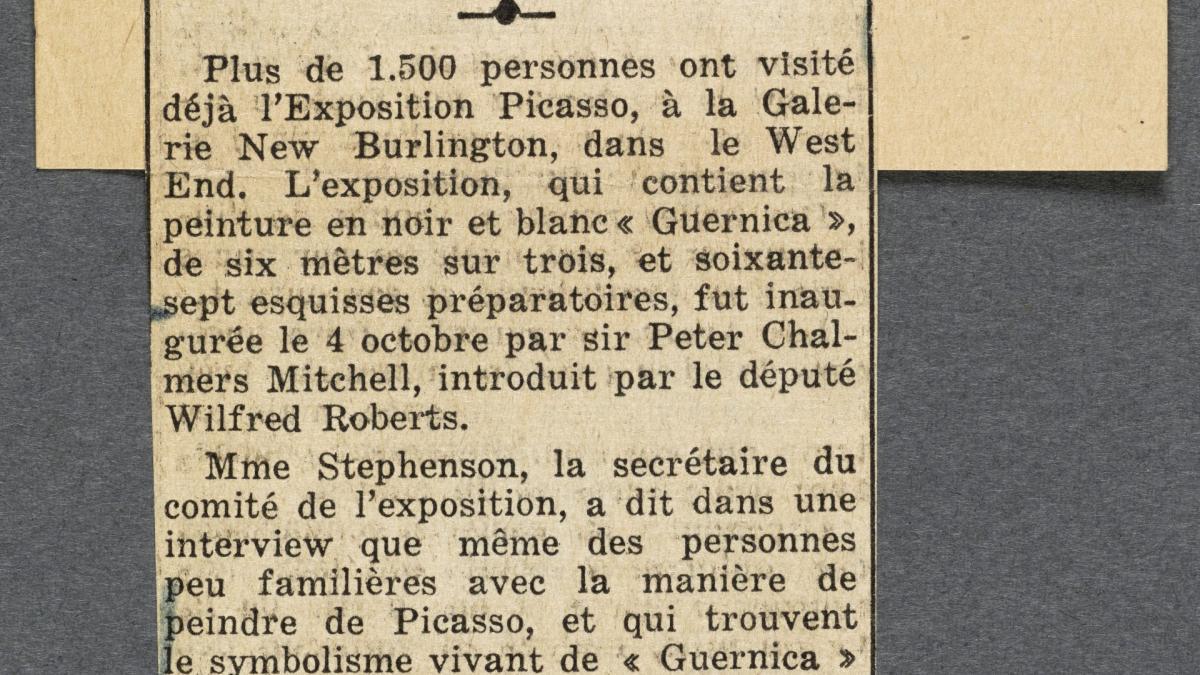 Una exposición de Picasso en Londres