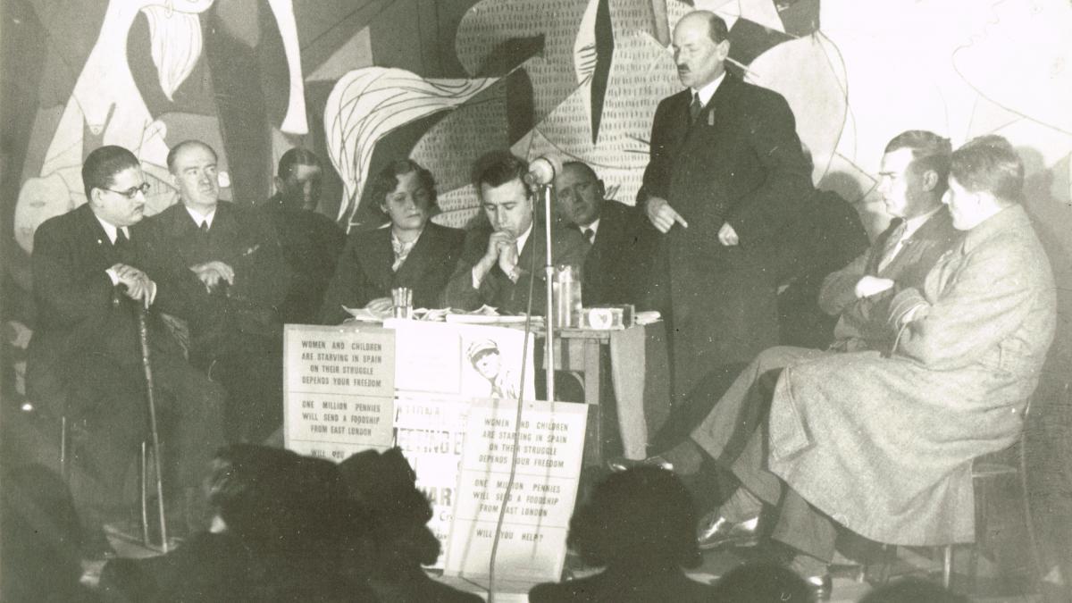 Discurso de Clement Attlee, lider del Partido Laborista,en la inauguración de la exposición Guernica pictures by Picasso de la Whitechapel Art Gallery