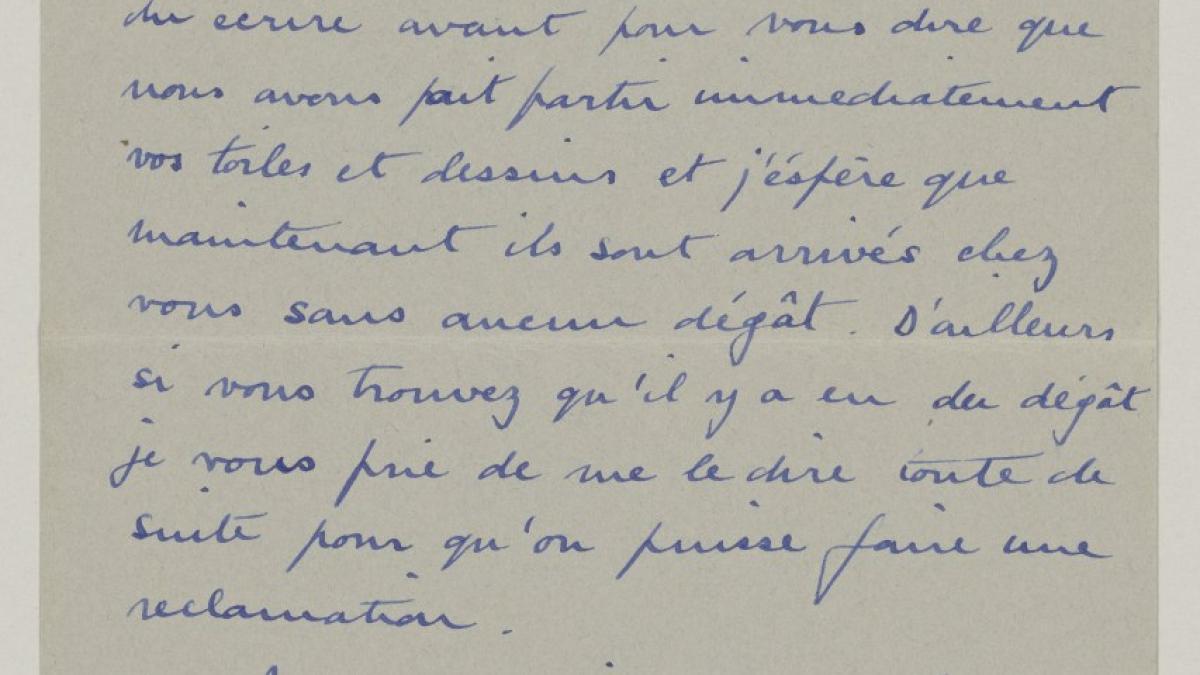 Carta de Roland Penrose a Pablo Picasso del 15 de abril de 1939
