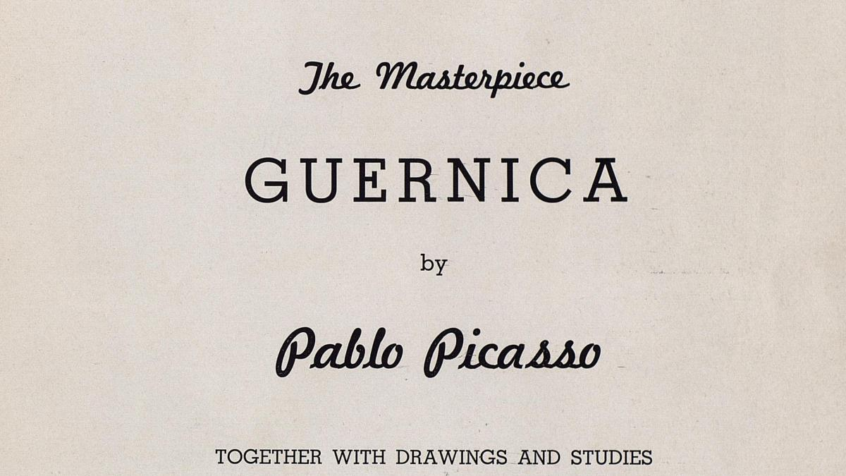 Catálogo de la exposición The Masterpiece Guernica by Pablo Picasso de la Valentine Gallery de Nueva York