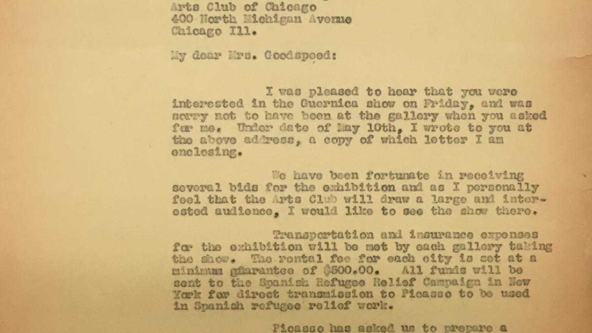 Carta de Sidney Janis a Charles Goodspeed del 15 de mayo de 1939