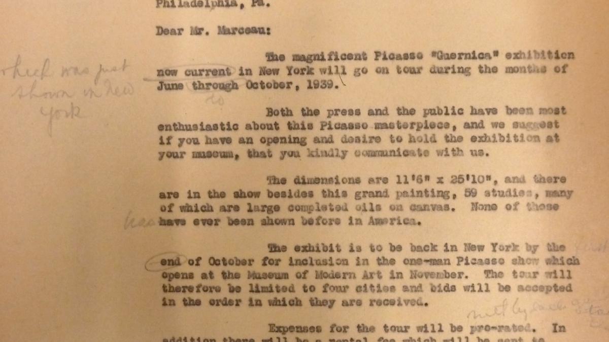 Carta de Sidney Janis a Henri Marceau