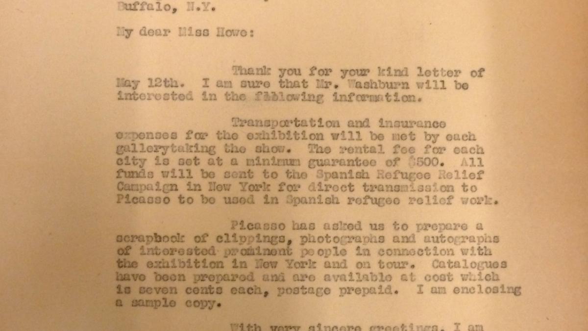 Carta de Sidney Janis a Beatrice Howe