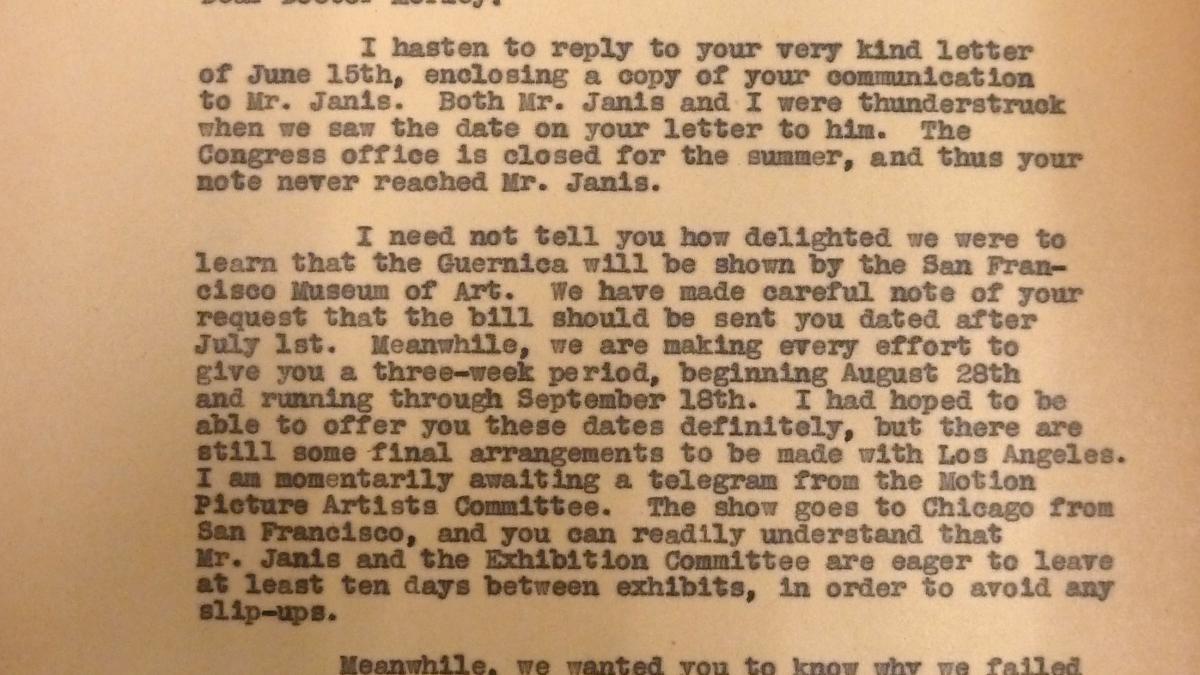 Carta de Evelyn Ahrend a Grace L. Mccann del 21 de junio de 1939