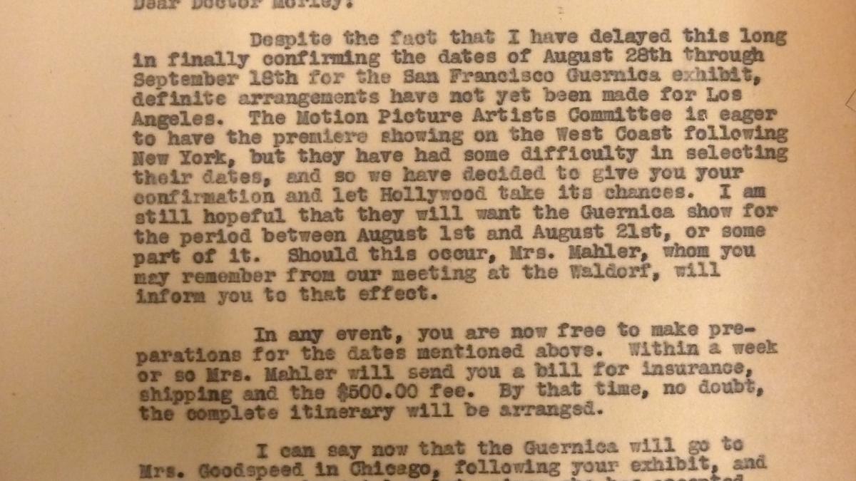 Carta de Evelyn Ahrend a Grace L. McCann del 29 de junio de 1939