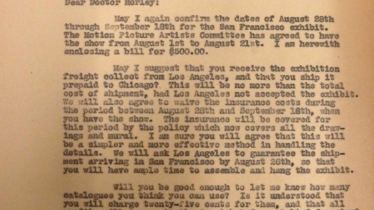 Blanche Mahler's letter to Grace L. McCann Morley