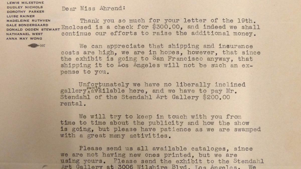 Carta de Marcelene Peterson a Evelyn Ahrend del 20 de julio de 1939