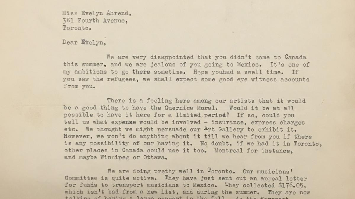 Phyllis Lane's letter to Evelyn Ahrend, dated 21 July 1939