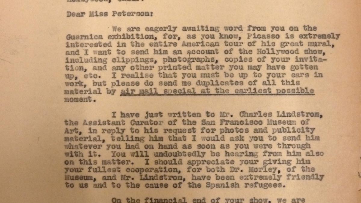 Carta de Evelyn Ahrend a Marcelene Peterson del 8 de agosto de 1939