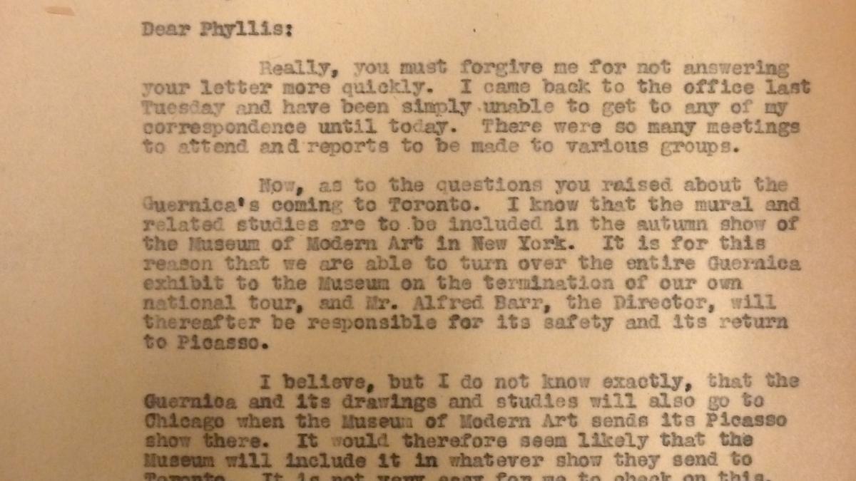 Carta de Evelyn Ahrend a Phyllis Lane del 9 de agosto de 1939